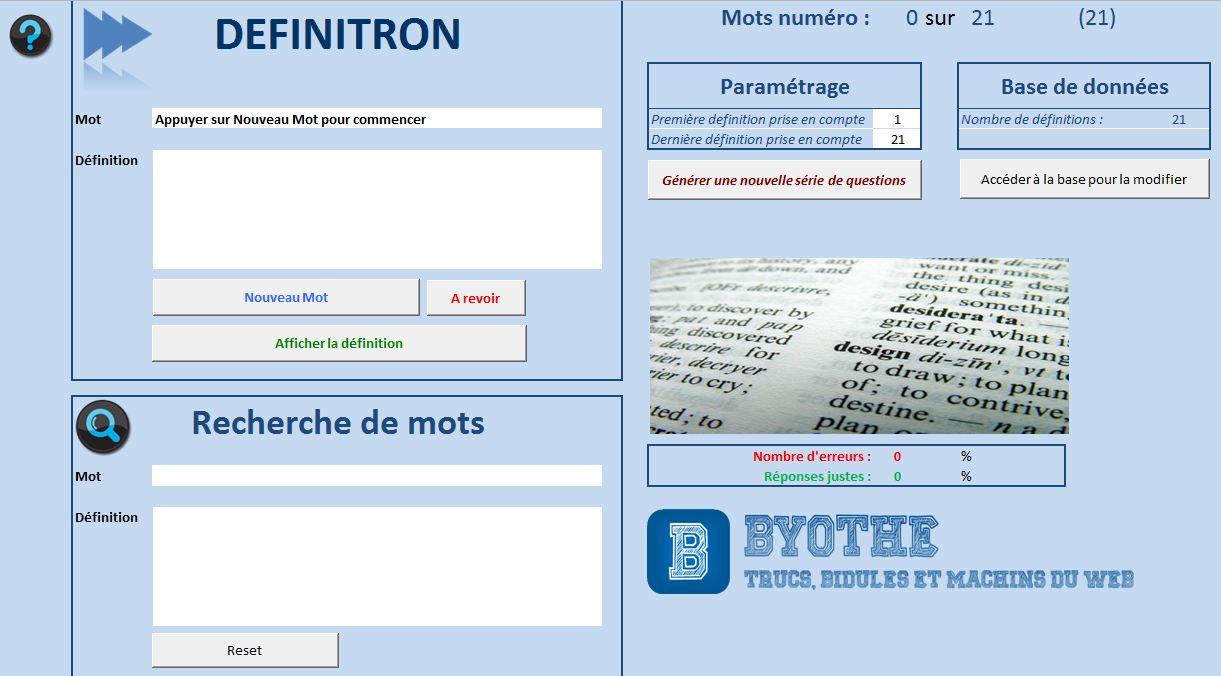 definitron2 Révisez vos listes de vocabulaire avec le Definitron