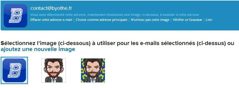 gravatar3 Gravatar : Lier un avatar à son adresse email