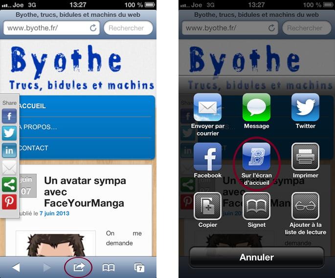 icone-iphone1 Créer un accès rapide à un blog ou à un site web sur son iPhone