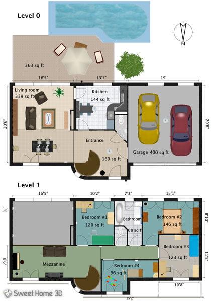 sweet-home-3d-plan2d Sweet Home 3D : réalisez vos propres plans et aménagements