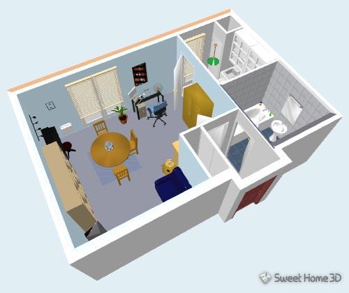 sweet-home-3d-vue3d Sweet Home 3D : réalisez vos propres plans et aménagements
