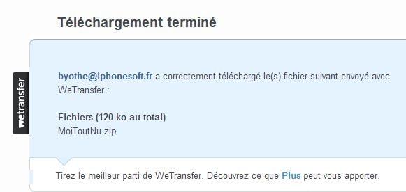 wetransfer-telechargement-termine Partager facilement de gros fichiers avec WeTransfer