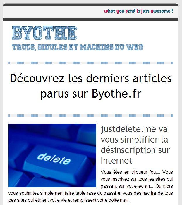 newsletter Byothe.fr dispose maintenant d'une newsletter à laquelle vous pouvez vous abonner !