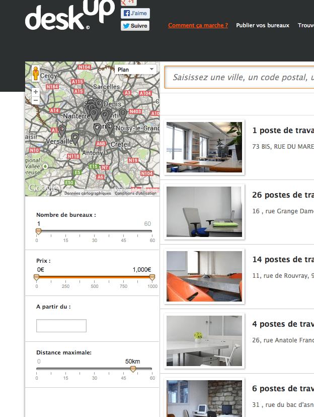 Deskup Deskup : la plateforme de location de bureaux