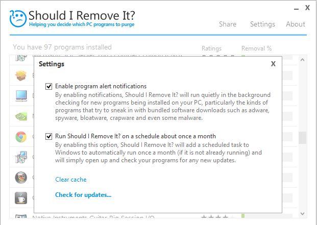 shouldiremoveit2 Faire le tri dans ses logiciels grâce à Should I Remove It ?