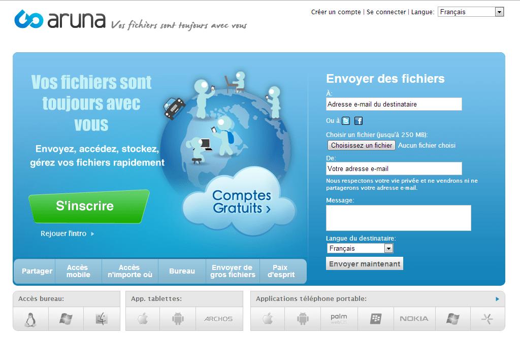 Goaruna 9 services pour envoyer de gros fichiers par email