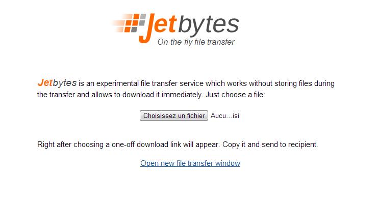 Jetbytes 9 services pour envoyer de gros fichiers par email