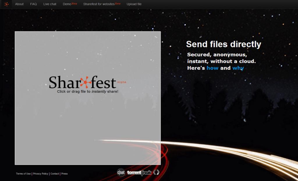 Sharefest-1024x623 9 services pour envoyer de gros fichiers par email