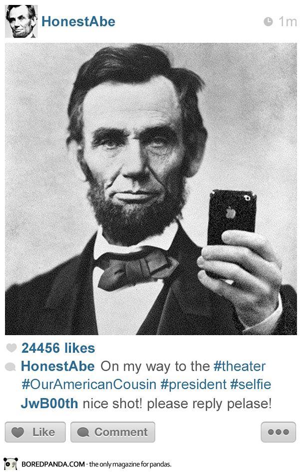 histagrams-lincoln1 Histagrams : l'histoire à la sauce Instagram