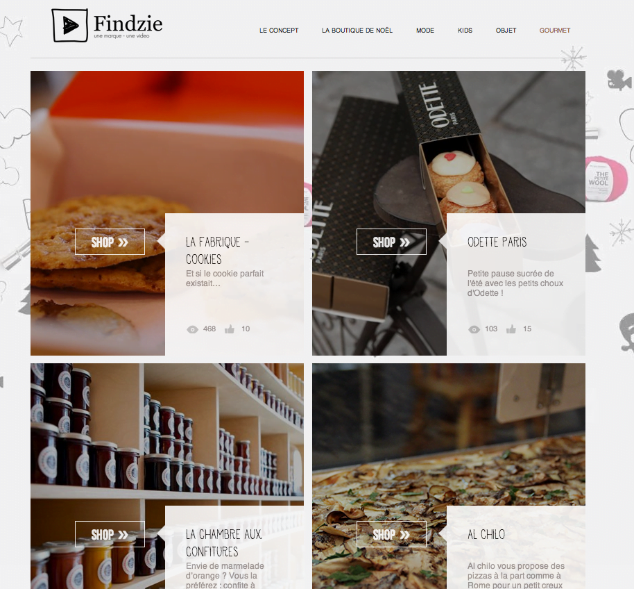 Findzie Findzie : l'e-shop en mouvement