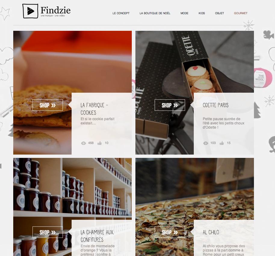 Findzie Findzie : l'e-shop en mouvement