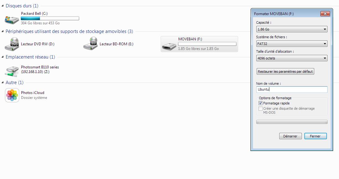 Formater-Clé-USB Tutoriel : réutilisez le disque dur de votre box TV
