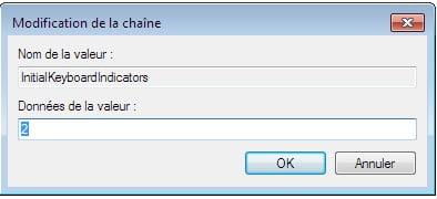 InitialKeyboardIndicators Comment activer le pavé numérique au démarrage de Windows 7 ou Windows 8