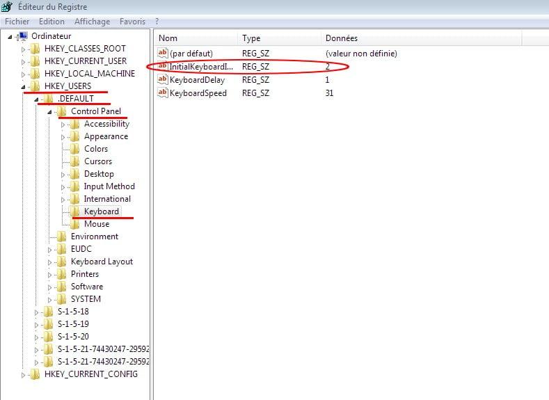 RegEdit1 Comment activer le pavé numérique au démarrage de Windows 7 ou Windows 8