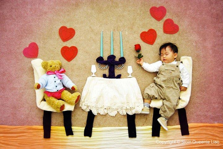 a-romantic-diner Photo : des siestes de bébés mises en scène !