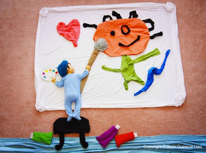 little-picasso Photo : des siestes de bébés mises en scène !