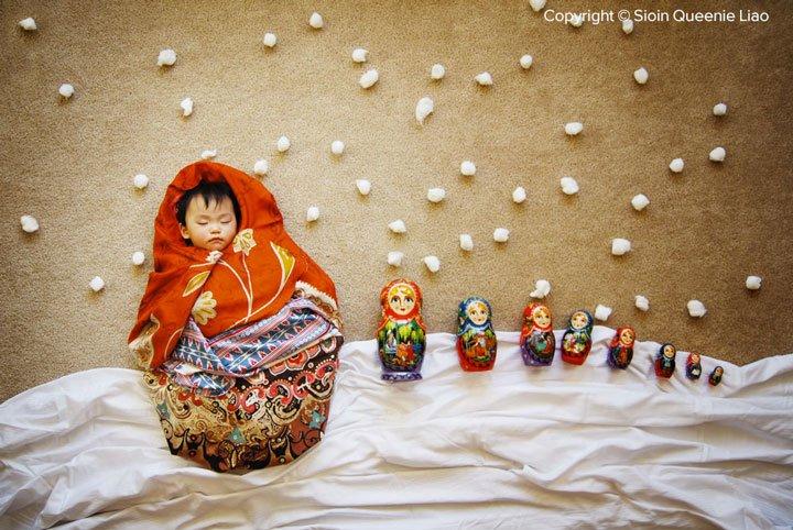 the-precious-mathryoska Photo : des siestes de bébés mises en scène !