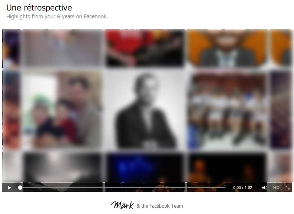 facebook-lookback1 Pour fêter ses 10 ans, Facebook vous raconte votre vie en vidéo !
