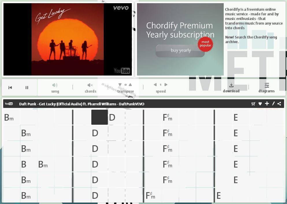 chordify2 Chordify : récupérer facilement les accords d'une chanson