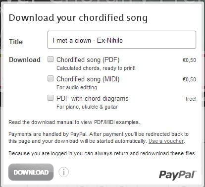 chordify5 Chordify : récupérer facilement les accords d'une chanson