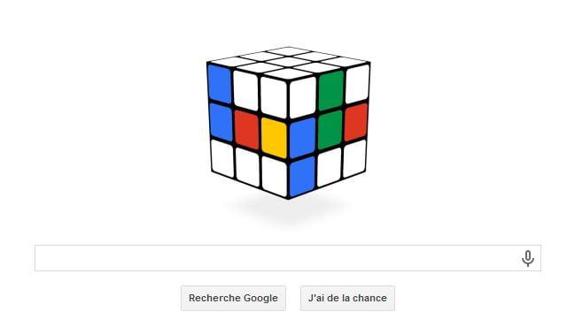 rubiks-cube-doodle Google fête les 40 ans du Rubik's Cube !