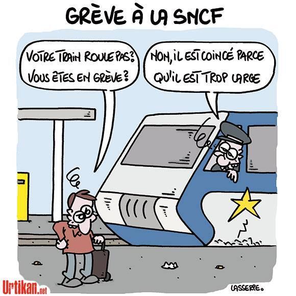 sncf-greve-quais2 Nouveaux trains trop larges à la SNCF : le web se déchaîne en image !