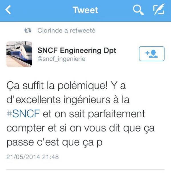 sncf-ingenieur-twitter Nouveaux trains trop larges à la SNCF : le web se déchaîne en image !