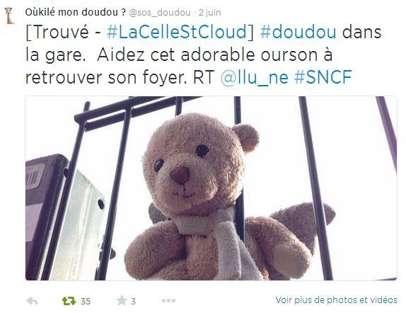 sos-doudou-1 Retrouvez le doudou de votre enfant grâce à Twitter et Oukilé mon doudou