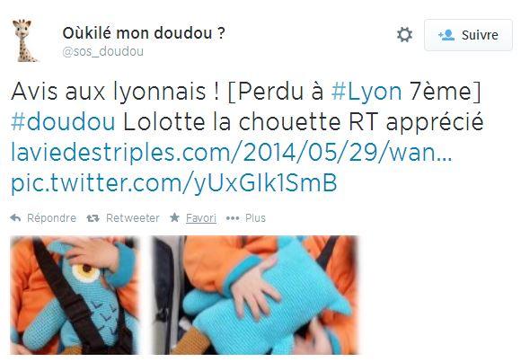 sos-doudou-2 Retrouvez le doudou de votre enfant grâce à Twitter et Oukilé mon doudou