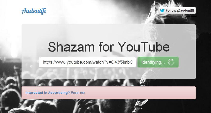 audentifi-youtube Audentifi vous permet d'identifier une musique sur une vidéo Youtube