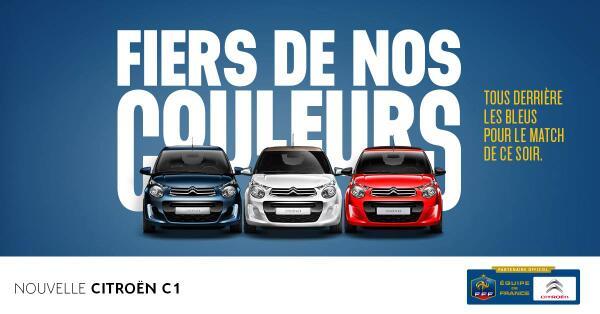 citroen-bleu-blanc-rouge Humour : quand les marques soutiennent l'Equipe de France de foot