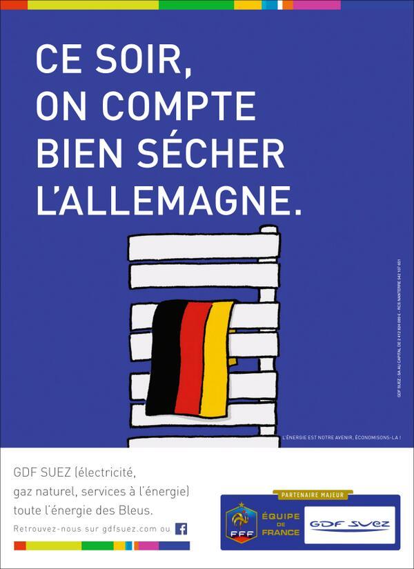 gdf-secher-allemagne Humour : quand les marques soutiennent l'Equipe de France de foot