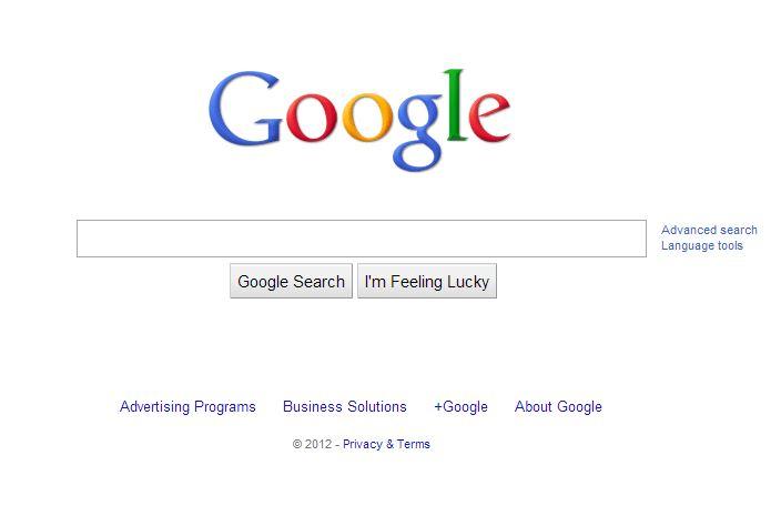 google-decembre-2012 L'évolution de la page d'accueil de Google depuis 1998