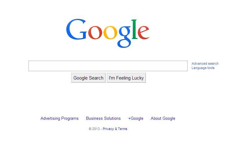 google-decembre-2013 L'évolution de la page d'accueil de Google depuis 1998