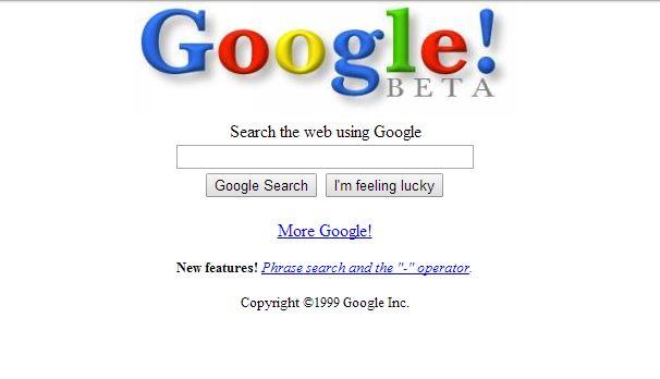 google-fevrier-1999 L'évolution de la page d'accueil de Google depuis 1998