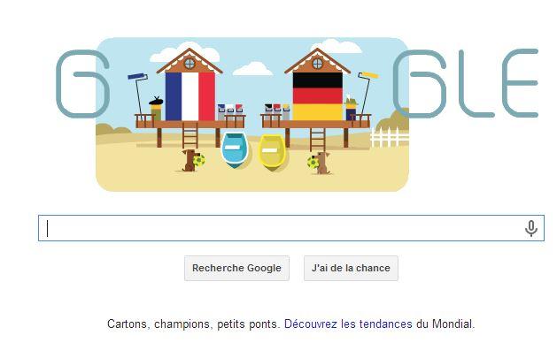 google-france-allemagne Humour : quand les marques soutiennent l'Equipe de France de foot
