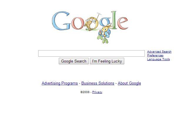 google-juillet-2008 L'évolution de la page d'accueil de Google depuis 1998