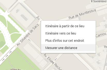 google-maps-distance Il est désormais possible de mesurer des distances entre 2 points sur Google Maps