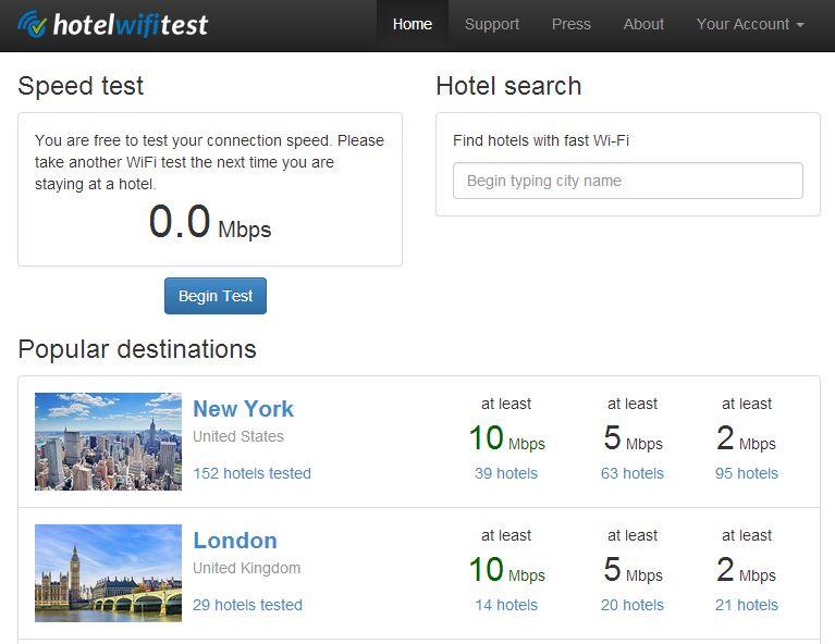 hotel-wifi-test Un site web qui classe les hôtels en fonction de leur connexion Wifi