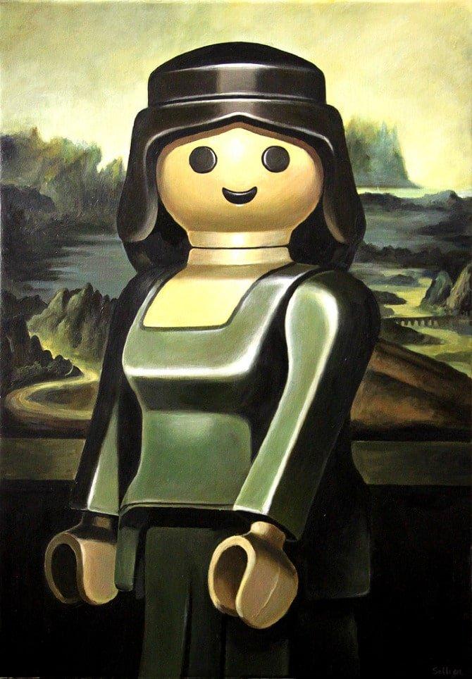 image-du-jour-joconde-sollier1 L'image du jour : des peintures célèbres avec des personnages Playmobil