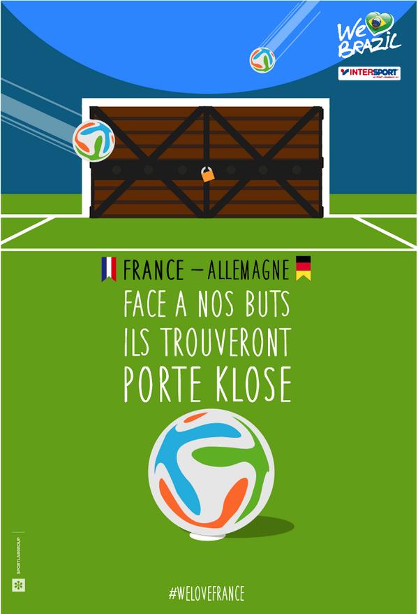 intersport-france-allemagne Humour : quand les marques soutiennent l'Equipe de France de foot