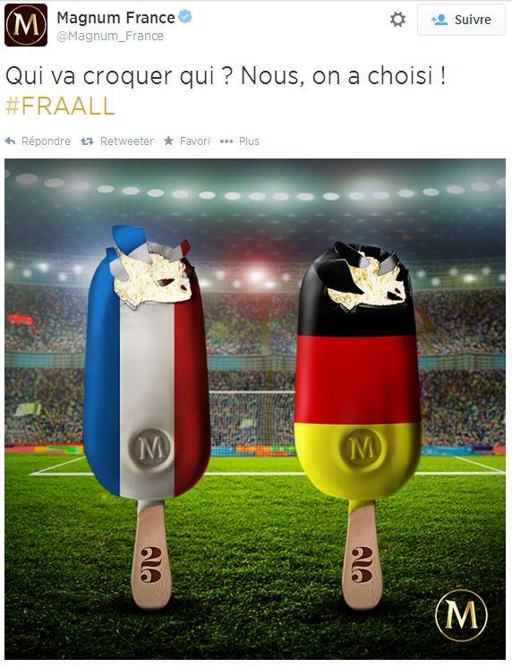 magnum-croquer Humour : quand les marques soutiennent l'Equipe de France de foot