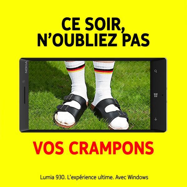nokia-crampons Humour : quand les marques soutiennent l'Equipe de France de foot