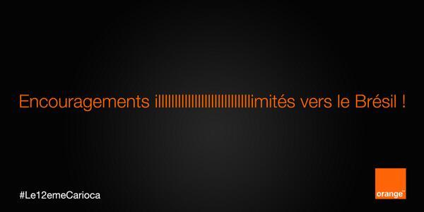 orange-encouragement-illimite Humour : quand les marques soutiennent l'Equipe de France de foot