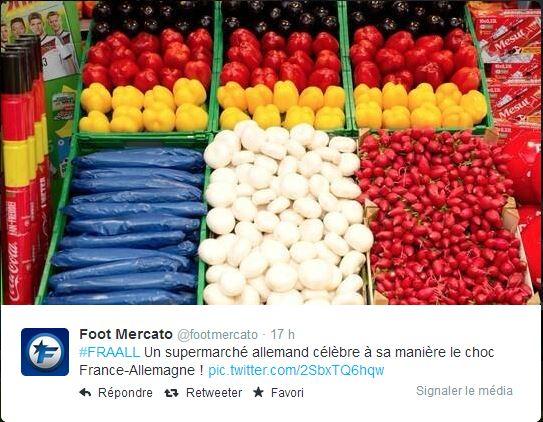 twitter-supermarche-allemand Humour : quand les marques soutiennent l'Equipe de France de foot