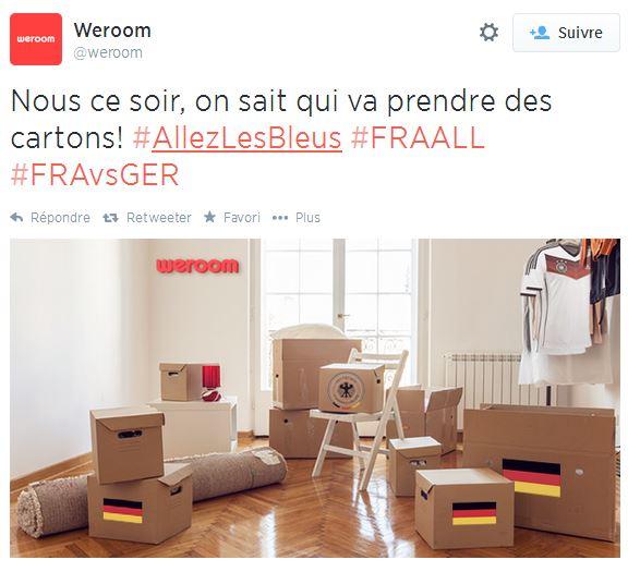 weroom-cartons Humour : quand les marques soutiennent l'Equipe de France de foot