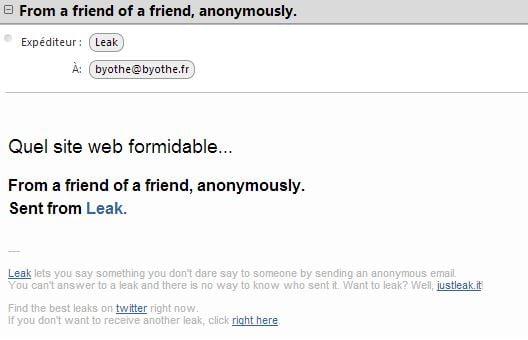 leak-email Leak : envoyez des emails anonymes