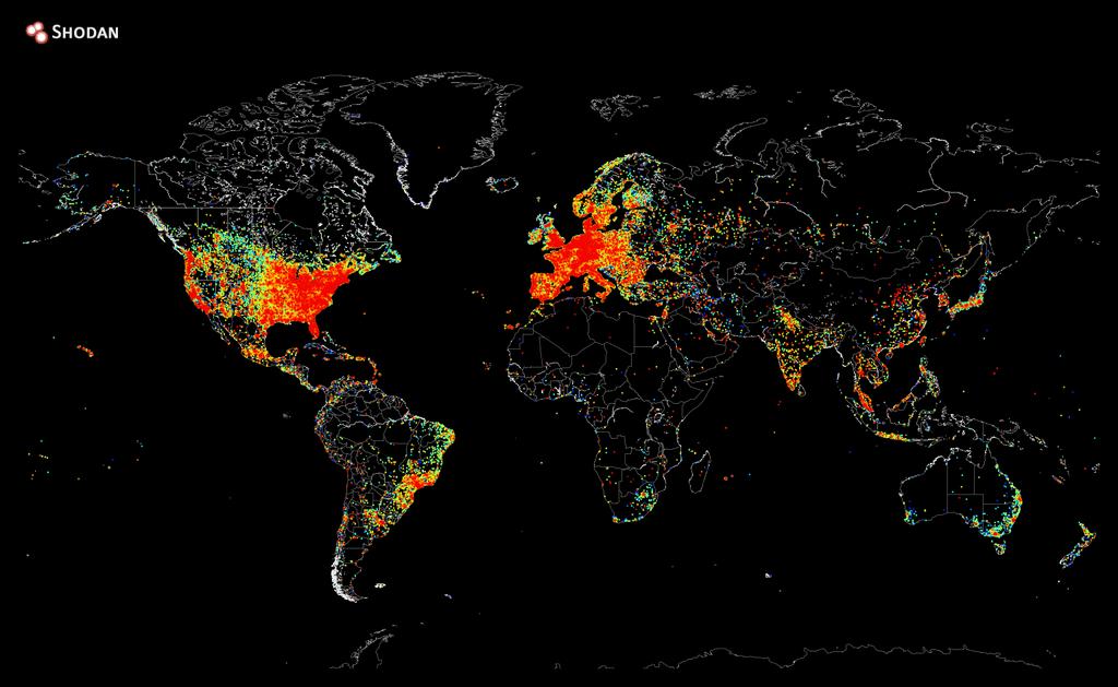 repartition-appareils-internet L'image du jour : la répartition mondiale des appareils connectés à Internet
