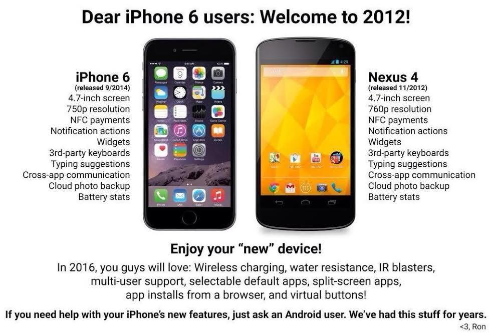 iphone6-nexus4 Les réactions des concurrents d'Apple à la sortie de l'iPhone 6