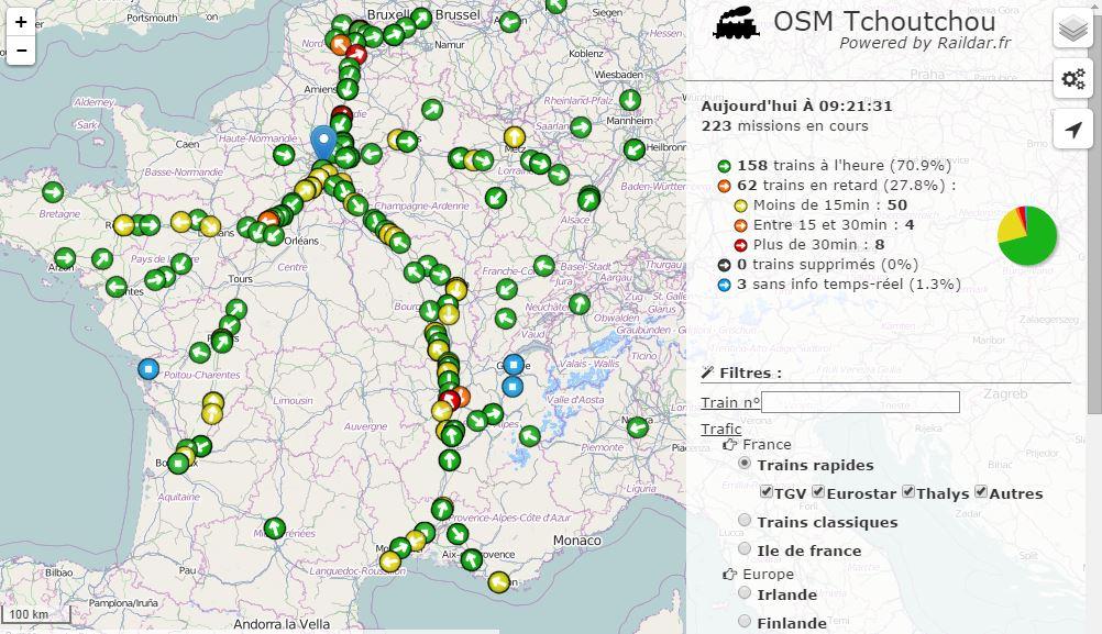 raildar-carte-france Raildar, une carte pour suivre le déplacement des trains en temps réel !